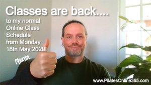Online Live Pilates Classes in South Dublin Ireland are back from Monday 18th May 2020 onward