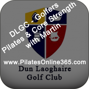 Pilates & Core Strength Classes with Martin for DLGC Members Dun Loaghaire Colf Club Members LOGO v1